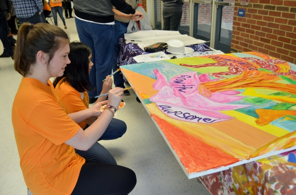 Activities at the Festival of Arts & Autism also featured painting, a gallery walk, musical performances, games, research poster presentations, and dancing among other activities.